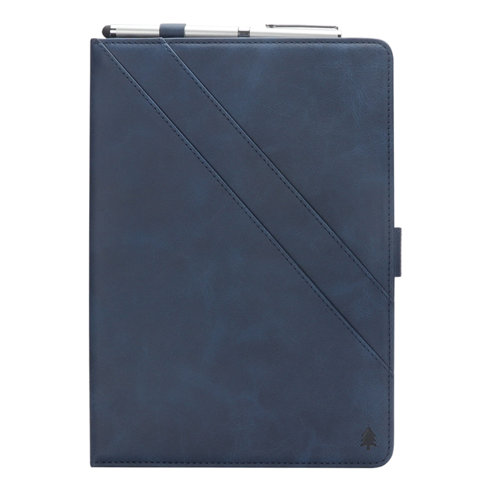 Bi-Stand Leather iPad Pro 12.9 Case (2018), w/Sleeves & Frame (Blue)