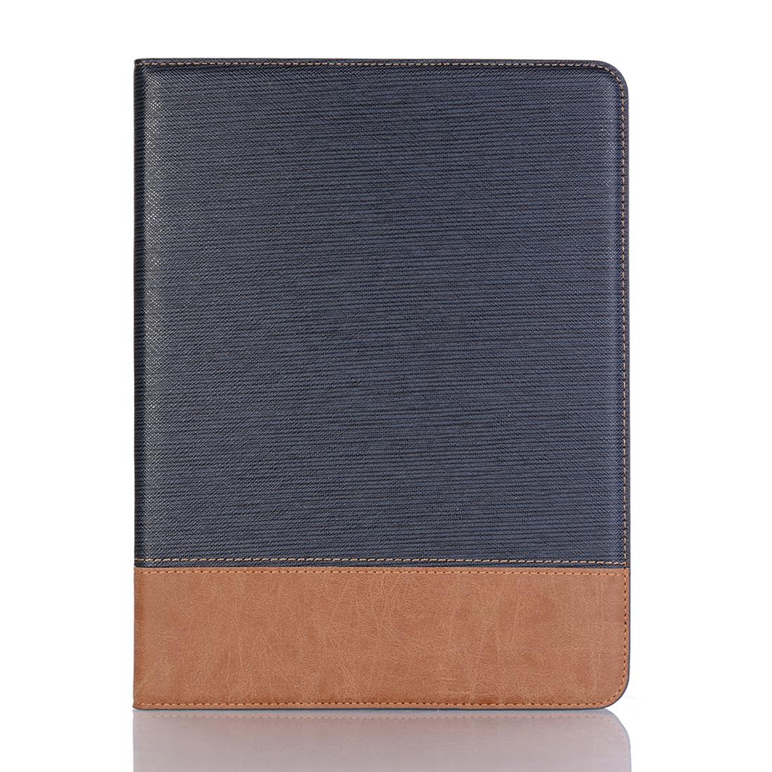 Cross Texture Leather iPad Pro 11 Case (2018) Slim Profile (Dark Blue)