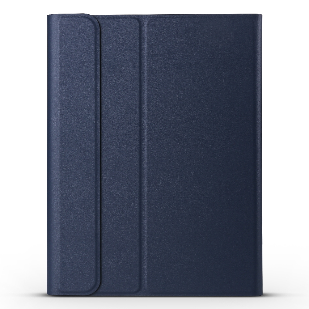 iPad Case With Keyboard & Bluetooth For iPad Pro 11 (2018), Leather Case, Detachable (Dark Blue)