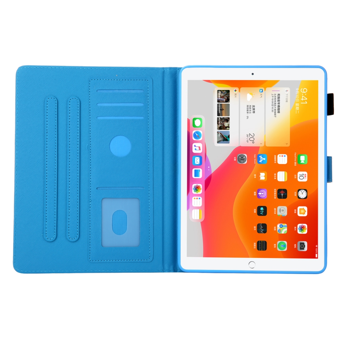 iPad 10.5 Case Colorful Design Leather Case with Sleeve (Owl)