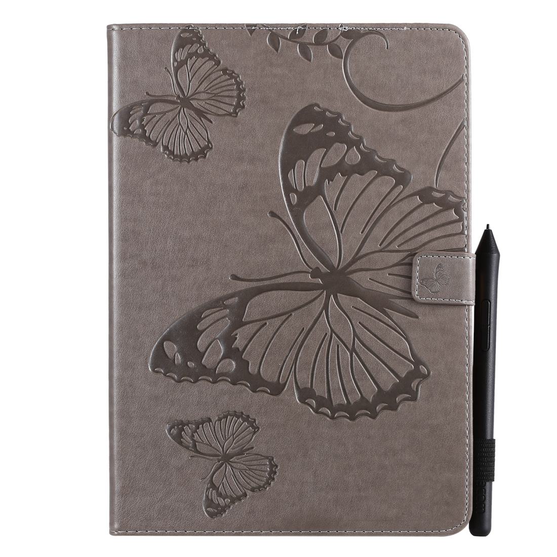 iPad 7th Generation Case (10.2 Inch) Also Fits /Pro 10.5/Air 2019 Leather Butterfly Design (Grey)