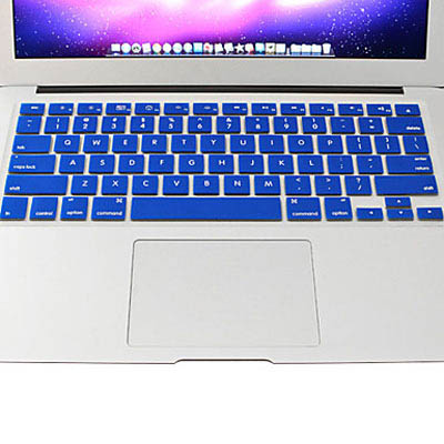 Macbook Pro Keyboard Cover For Pro 13.3 / 15.4 / 17.3 inch (US) / A1278/ A1286/ Soft Silicone (Blue)