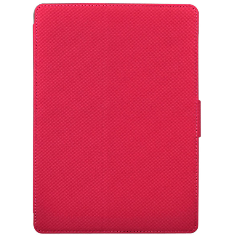 Cloth Texture Leather Case with Sleep/ Wake up Function For iPad Air (Magenta)