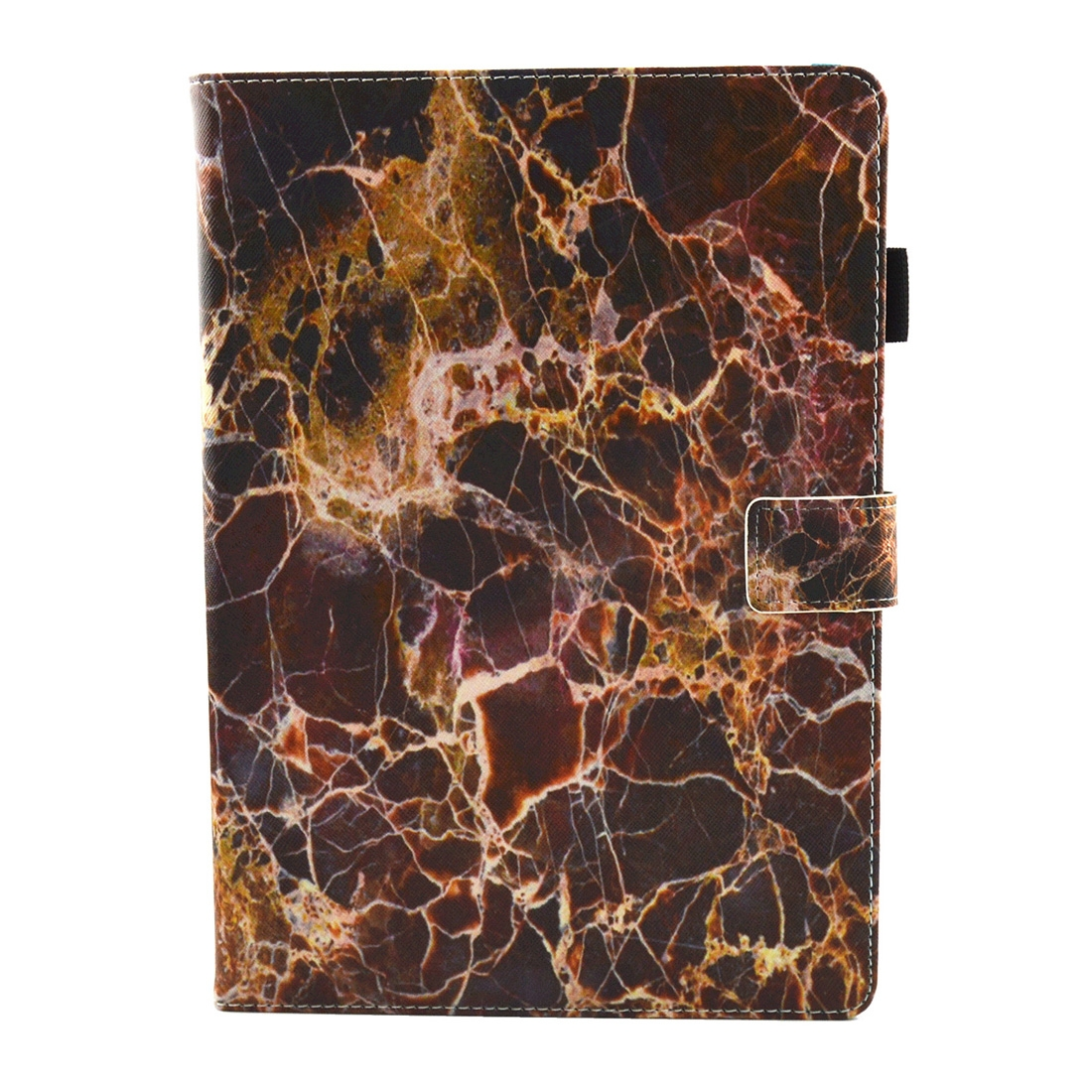 iPad Air 3 Case (10.5 Inch) Brown Marble Pattern Leather Protective Case, Pen Holder With Auto Sleep