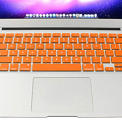 Macbook Pro Keyboard Cover For Pro 13.3 / 15.4 / 17.3 inch (US)/A1278/ A1286/ Soft Silicone (Orange)