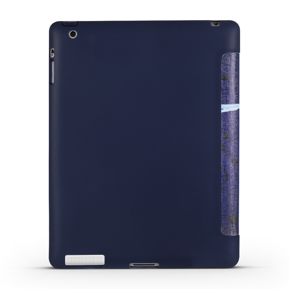 Butterflies Leather iPad 4th Generation Case Fits iPad 2,3,4, with Tri-Fold Honeycomb Durable Cover