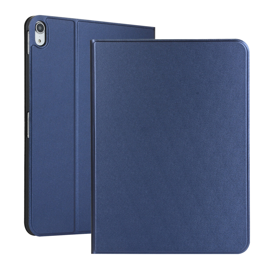 Elastic Leather iPad Pro 11 Case  with Auto Sleep, Durable Soft Shell Bottom (Dark blue)