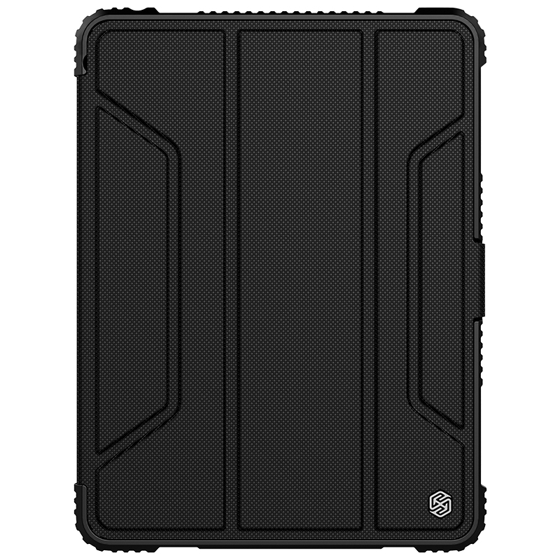 Bumper Leather iPad 9.7 Case (2017) (2018),with Pen Holder (Black)