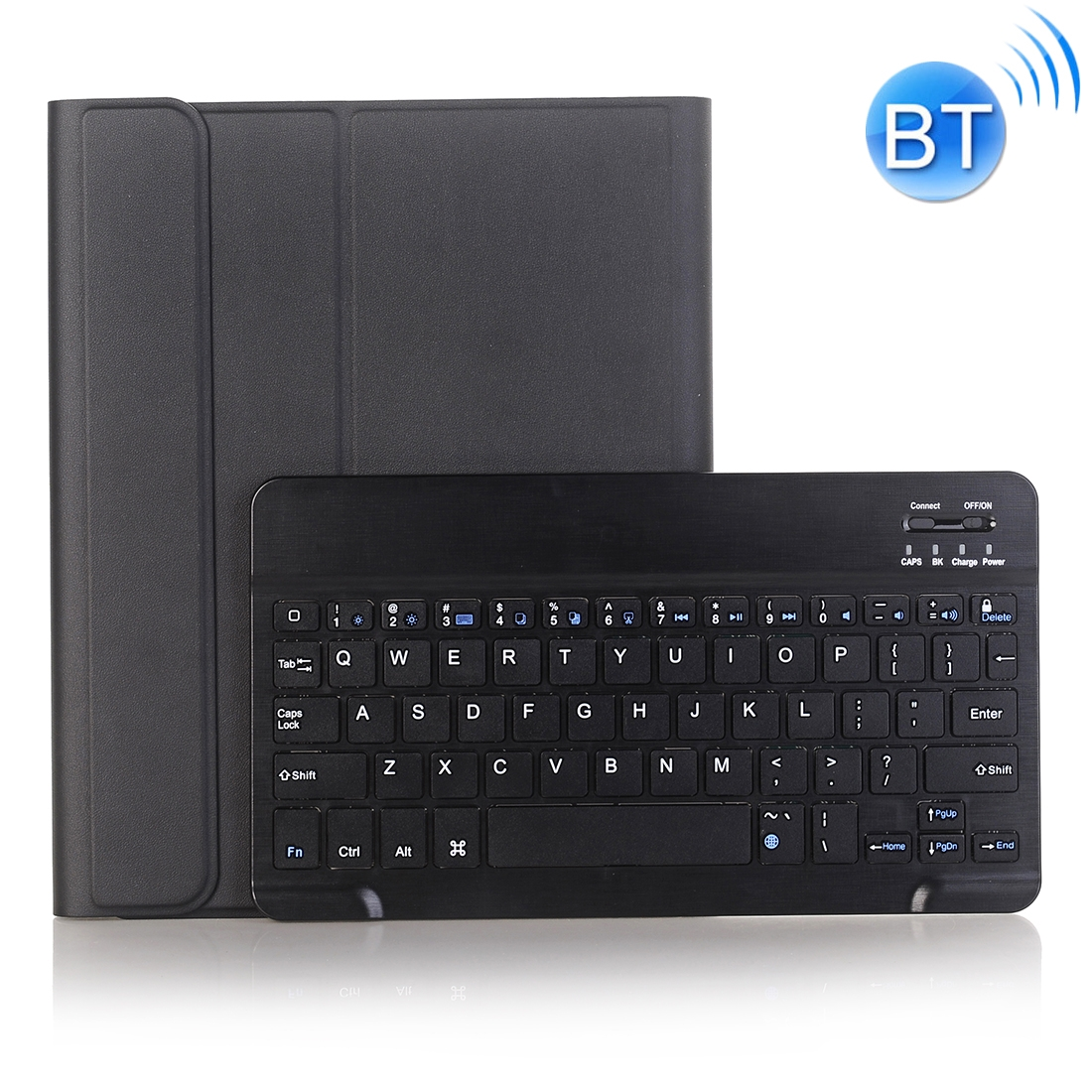 iPad Case With Keyboard & Bluetooth For iPad 10.2 Inch, Leather Case & Backlit Keyboard (Black)