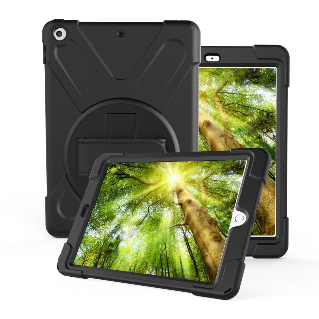 iPad 7th Generation Case (10.2 Inch) With A Protective Rotatable Design And Hand Strap (Army Green)
