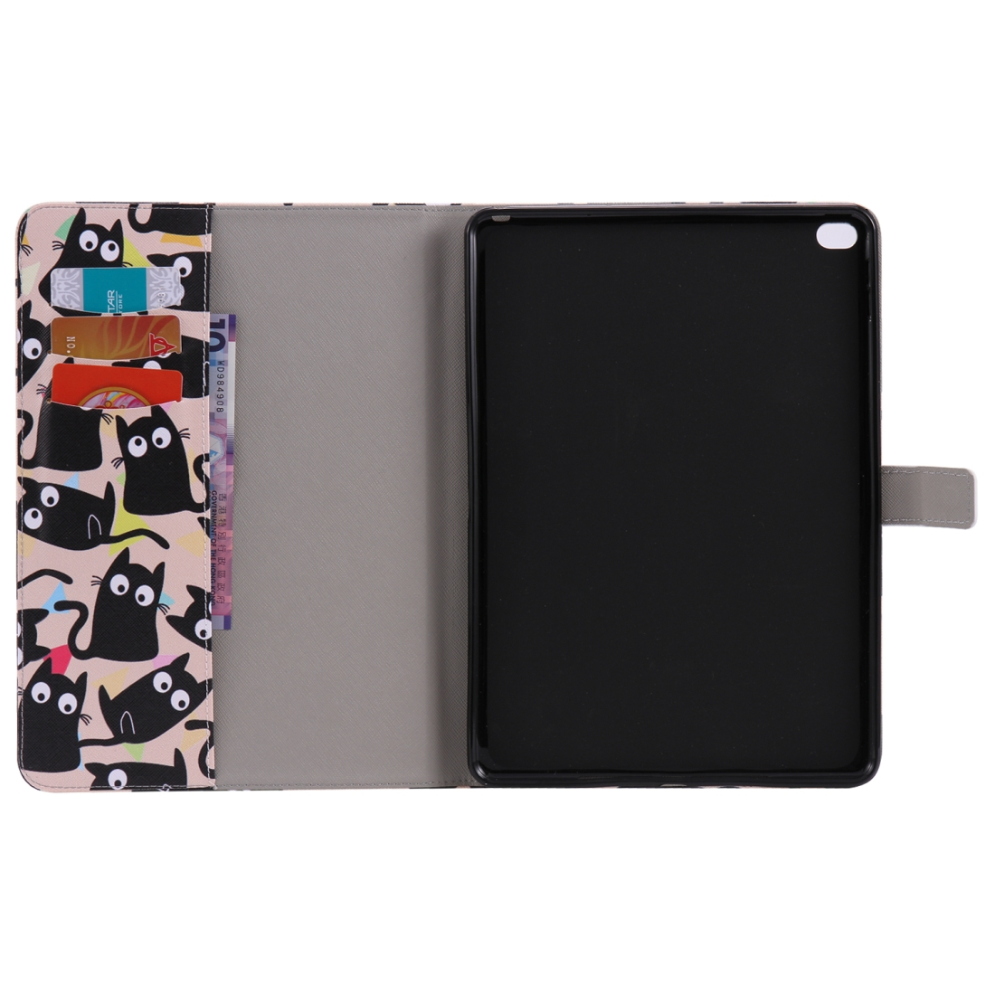 iPad 5th Generation Case Fits iPad 5 & 6, Leather With A Slim Profile & Auto Sleep (Little Cat)