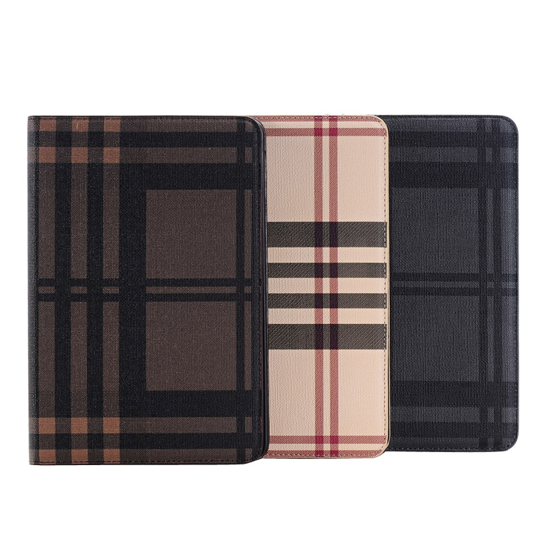 iPad 4th Generation Case With Designer Grid Textured Skin (Brown)