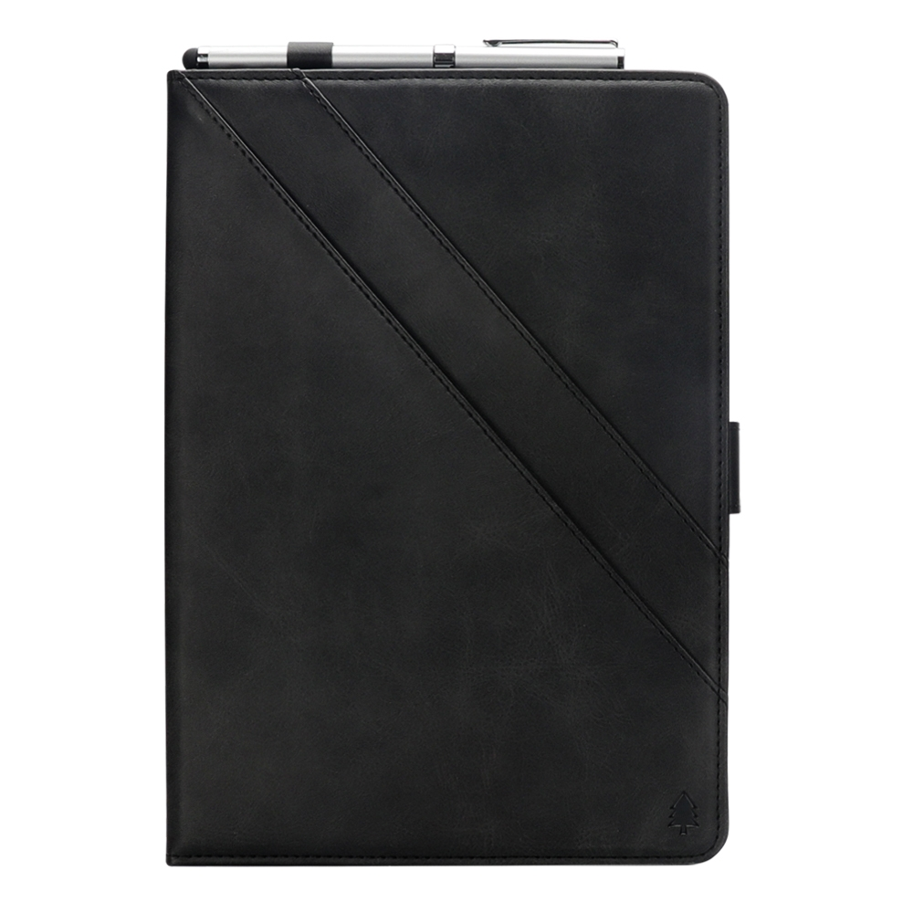 Bi-Stand Leather iPad Air 3 Case (10.5 Inch) (2017), w/Sleeves, Frame, Pen Holder (Black)