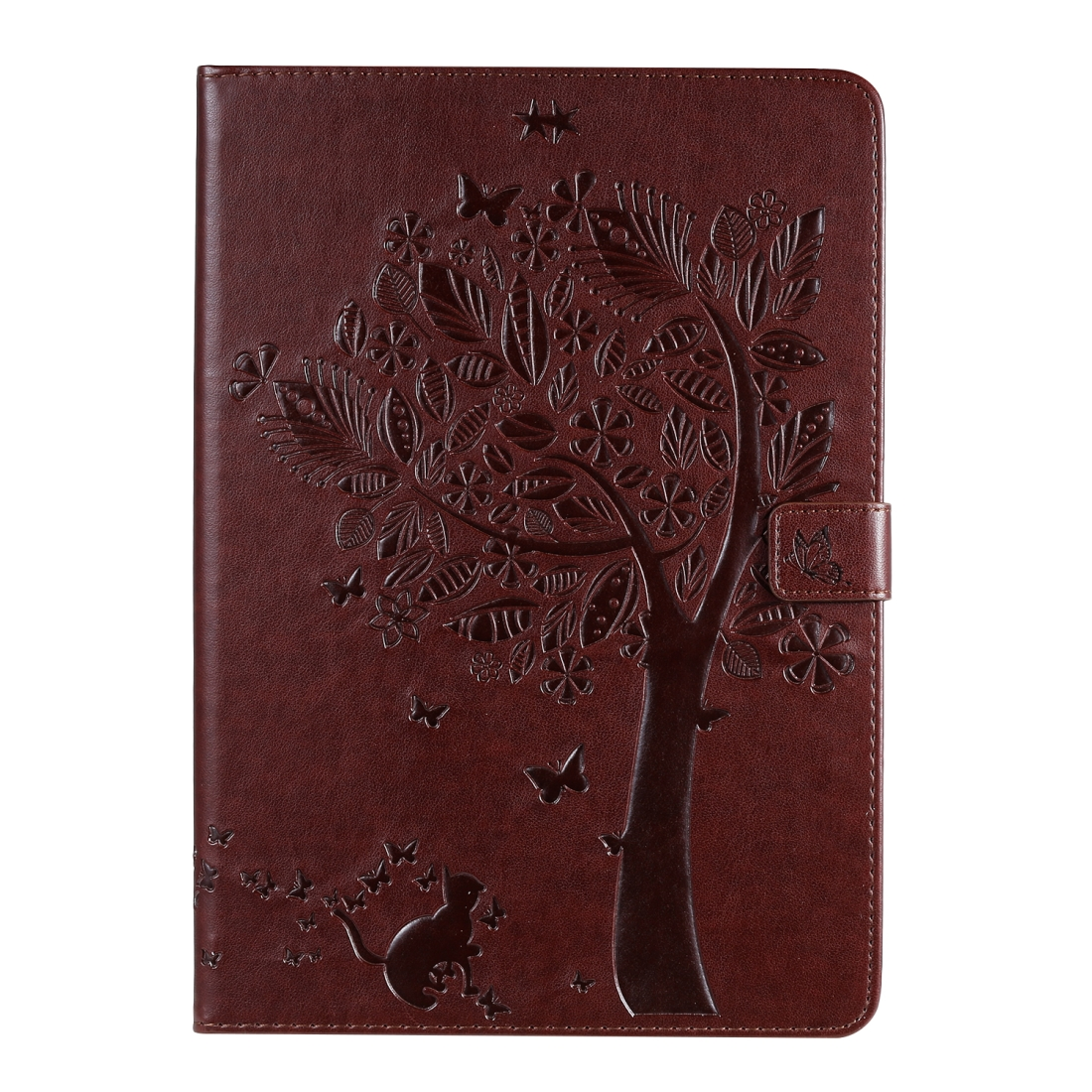 iPad 7th Generation Case (10.2 Inch) Also Fits Pro 10.5/ Air 2019, Leather Design (Brown)