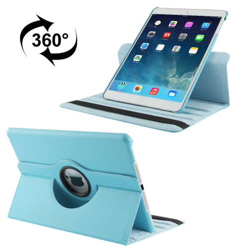 iPad Air 2 Smart Case, Also Fits iPad Air, iPad 9.7 (2017) & (2018) Leather With Auto Sleep (Blue)
