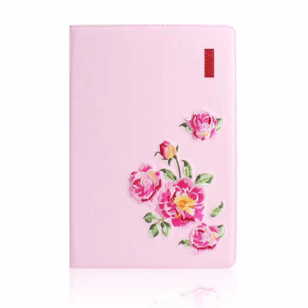 Flower Pattern Trendy Leather iPad Air 3 Case (10.5 Inch), with Auto Sleep (Pink)