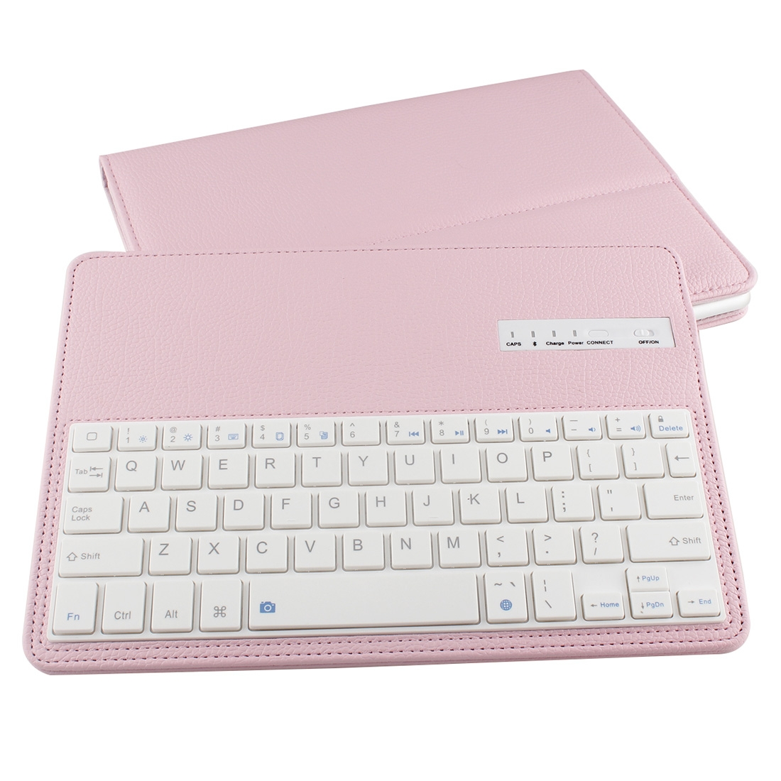 iPad Air 2 Case With Keyboard For iPad Air 2, Leather Case With Bluetooth & Auto/Sleep (Pink)