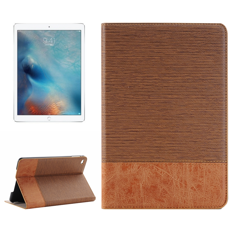 iPad Pro 12.9 Inch Case Featuring Sheep Skin Textured Premium Leather (Coffee)