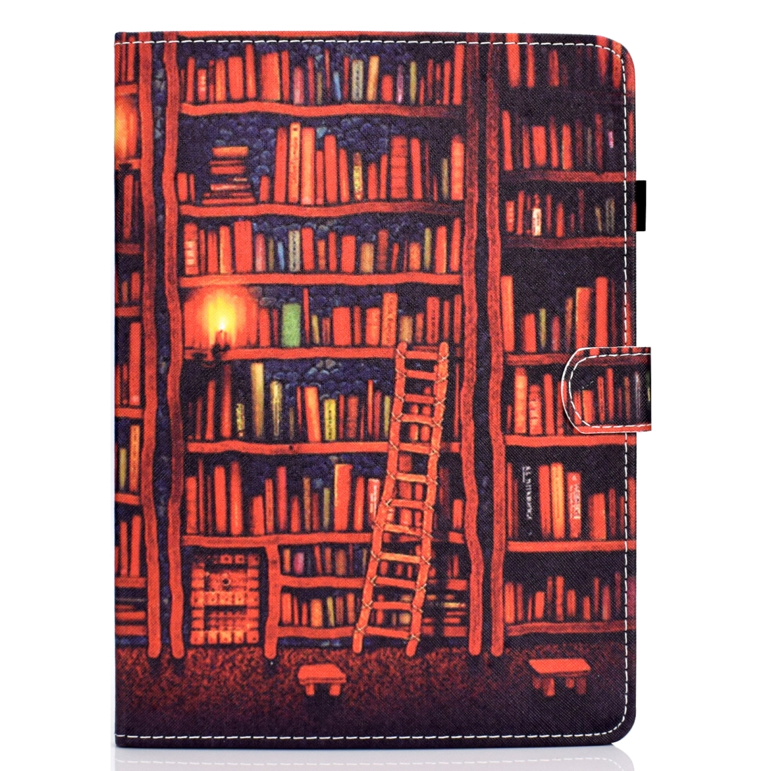 Artsy Leather iPad Air 3 Case (10.5 Inch) 2017/2019 Artsy Design & Auto Sleep Function (Bookshelf)