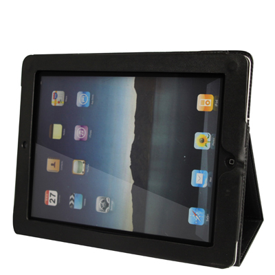 iPad 2 Case Featuring Premium Quality Leather With A Slim Profile (Black)