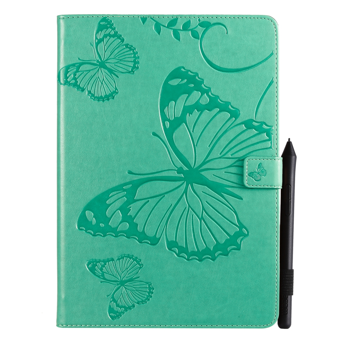 iPad 7th Generation Case (10.2 Inch) Also Fits /Pro 10.5/Air 2019 Leather Butterfly Design (Green)