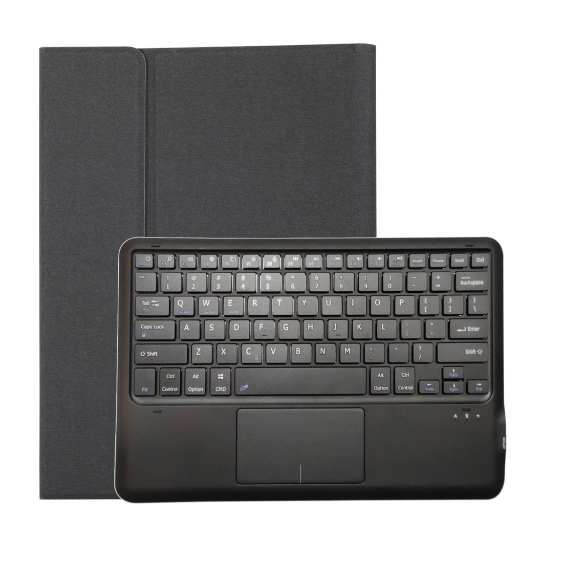 iPad Pro 12.9 Case With Keyboard (2018) (2020) With Leather Case & Backlit Keyboard (Black)