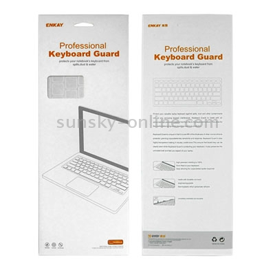 Macbook Air Keyboard Cover For MacBook Air 11.6 inch (US) / A1370 / A1465 Soft Silicone (Orange)