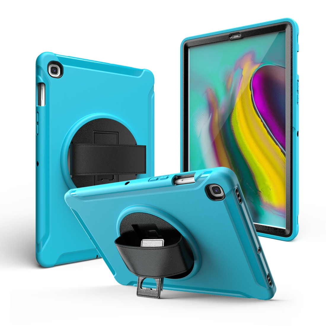 iPad 10.5 Case/ iPad Air 10.5 Case, Features A Rotating Protective Case With Hand-strap (Light Blue)