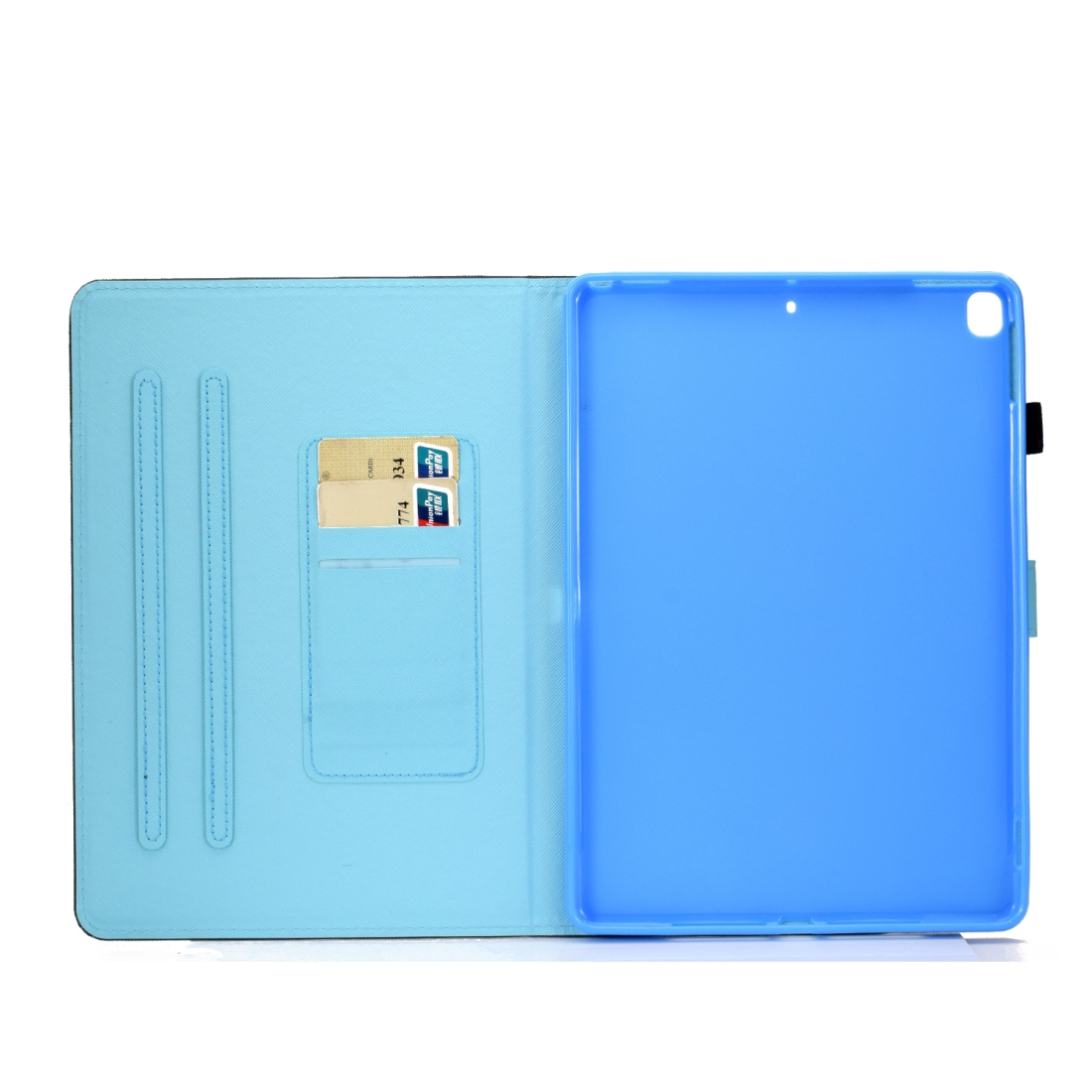 iPad 7th Generation Case (10.2 Inch) Leather With Sleeves, Pen Holder & Auto Sleep (Multi Butterfly)