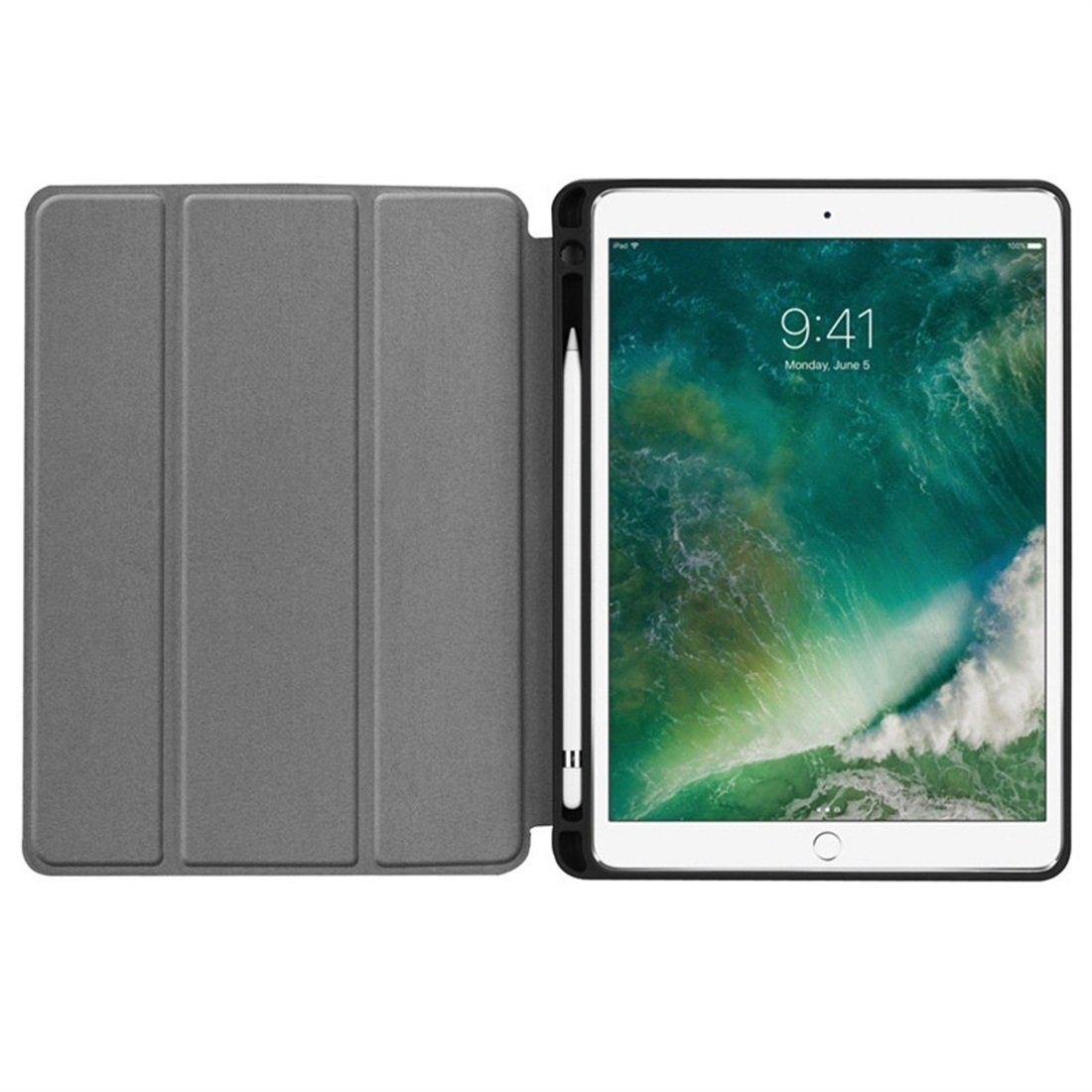 Custer Texture Leather iPad Air 3 Case (10.5 Inch)/ iPad Air (2019), with Pen Holder (Gold)