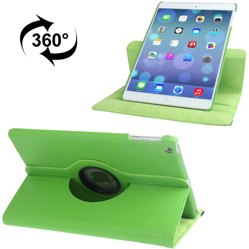 iPad Air 2 Smart Case, Also Fits iPad Air, iPad 9.7 (2017) & (2018) Leather With Auto Sleep (Green)