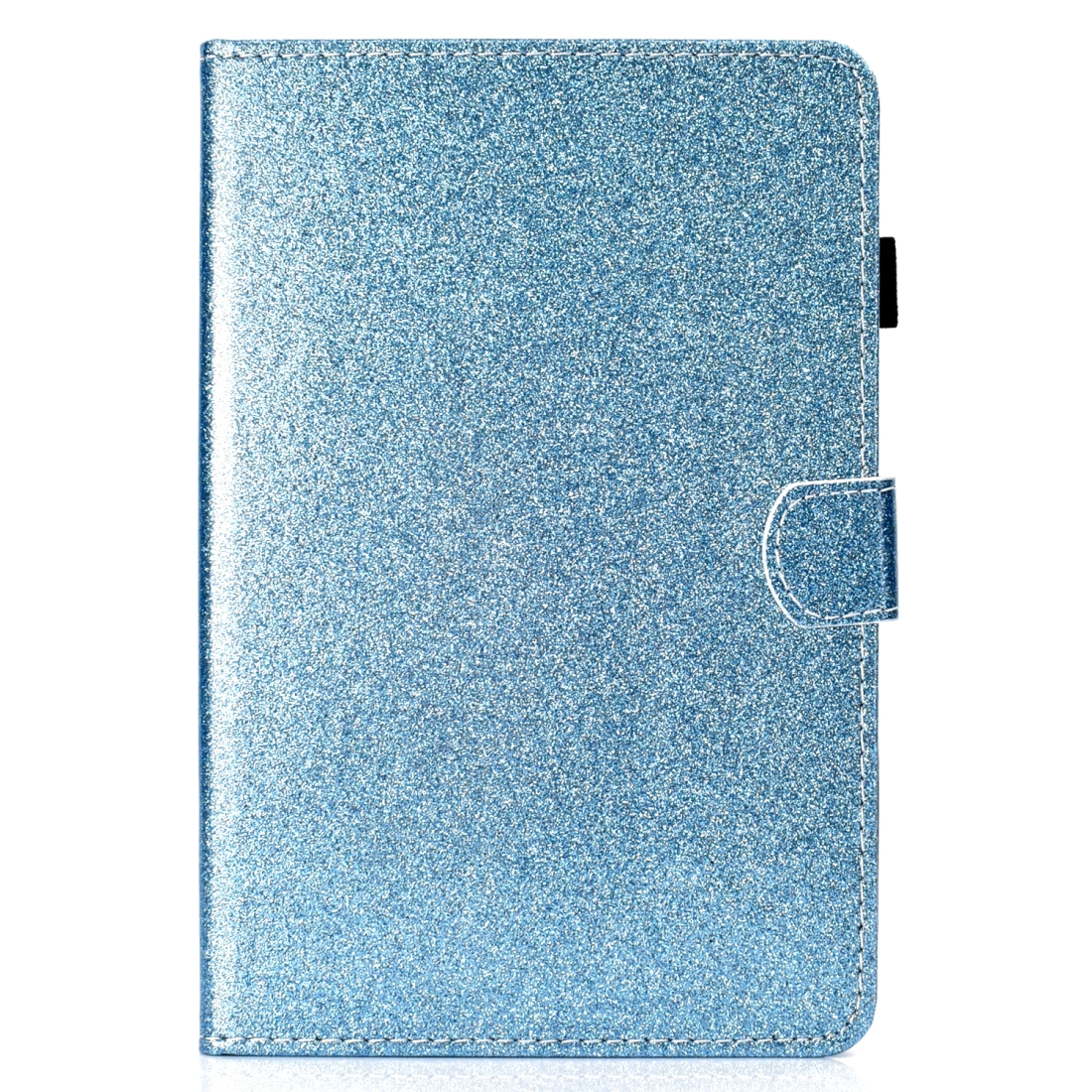 Bling Glitter Leather iPad Mini 5 Case, Also Fits iPad Mini 1,2,3,4, With Sleeve (Blue)