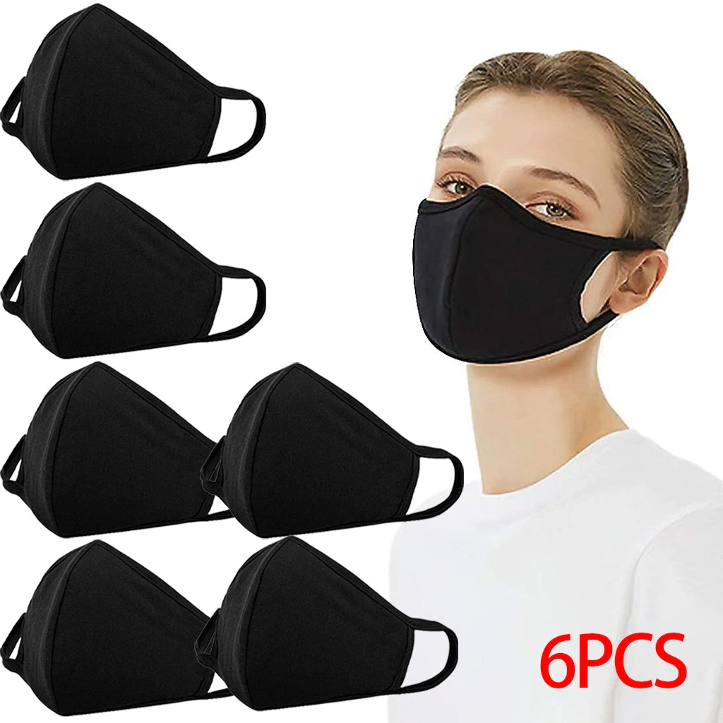 Cloth Face Mask Made Of Breathable Cotton – Easy Breathability - Black