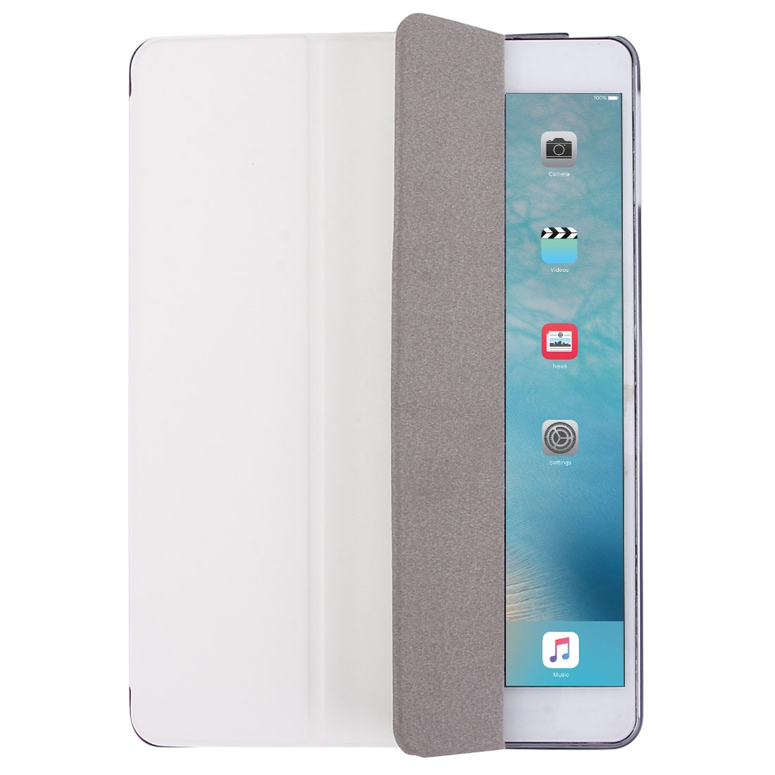 iPad Air Case Also Fits iPad 5, Features A Protective Leather Cover With Auto Sleep/Awake (White)