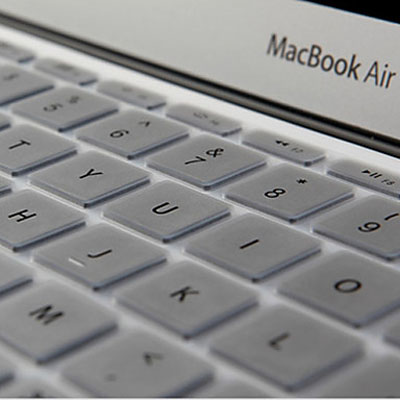 Macbook Air Keyboard Cover For MacBook Air 11.6 inch (US) / A1370 / A1465 Soft Silicone (Silver)