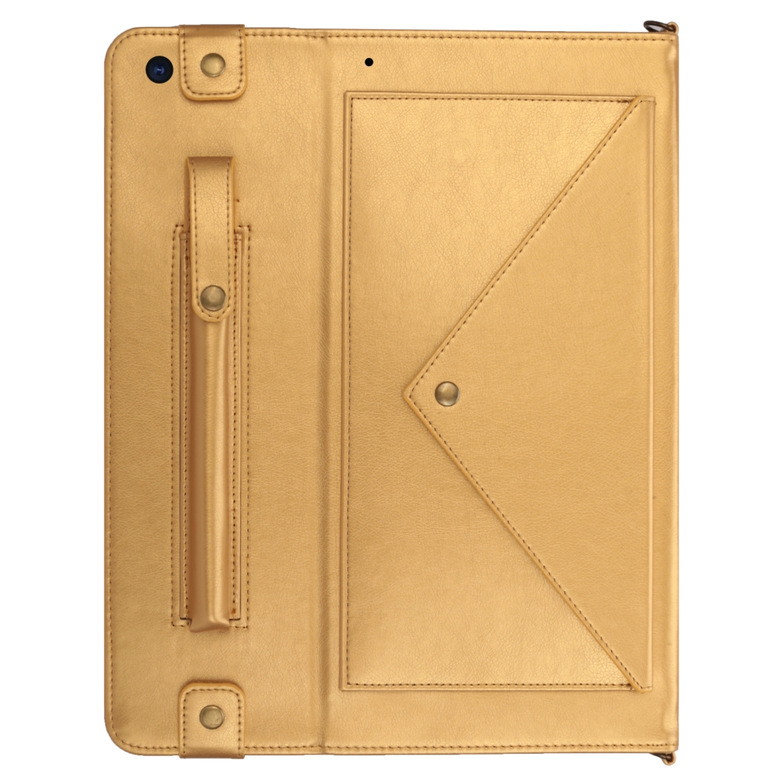iPad 7th Generation Case (10.2 Inch)  Leather Case, Pen Holder & Slim Profile (Gold)