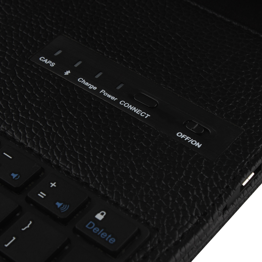 iPad Air 2 Case With Keyboard For iPad Air 2, iPad 6th Gen., Leather Case & Bluetooth (Black)