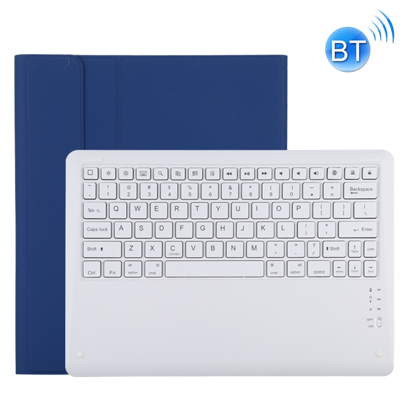 iPad Pro 12.9 Case With Keyboard (2020) Leather Case With Detachable Keyboard (Blue)