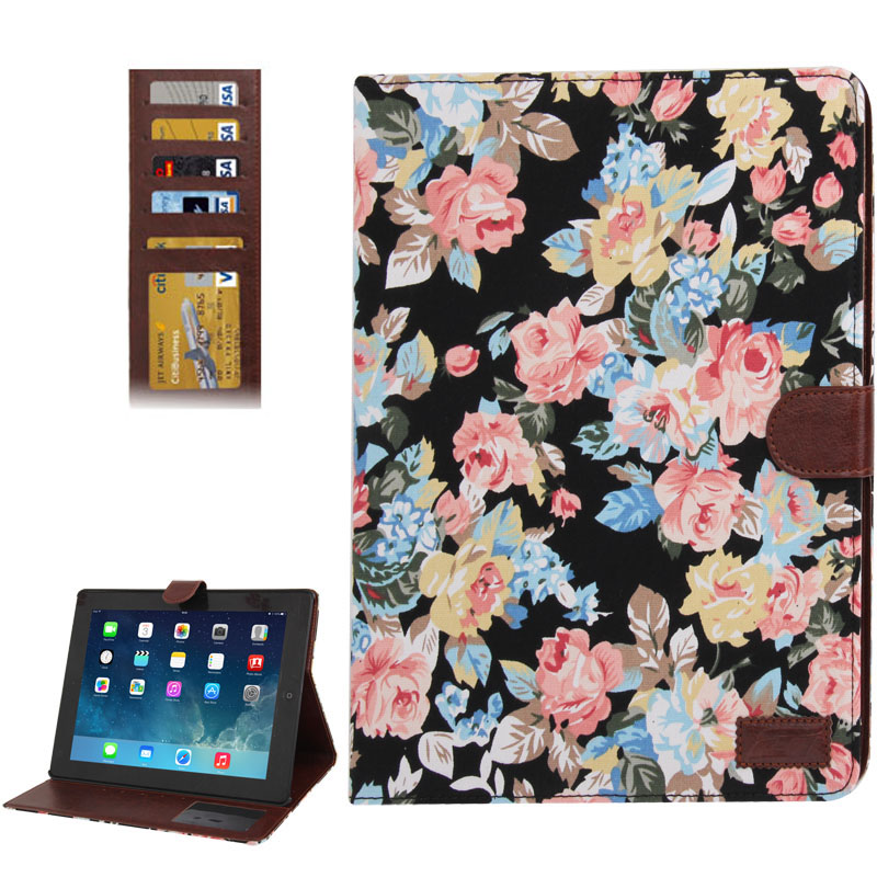 iPad 2 Case Fits iPad 2, 3, 4, Denim Textured Leather With Sleeves & Stand