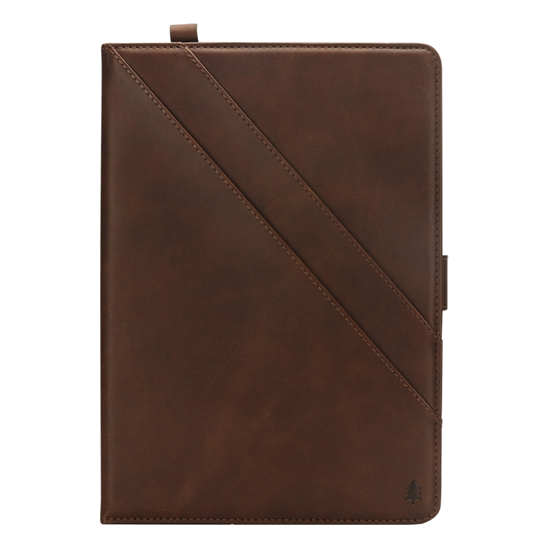 Bi-Stand Leather iPad Pro 12.9 Case (2018), w/Sleeves, Frame, Pen Holder (Dark Brown)