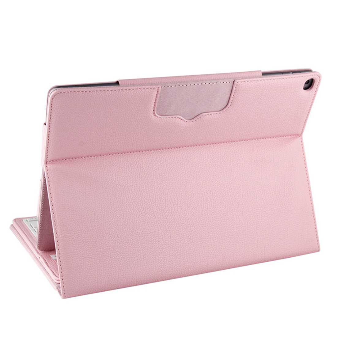 iPad Pro 12.9 Case With Keyboard (2015-17) With Leather Case & Detachable Keyboard (Pink)