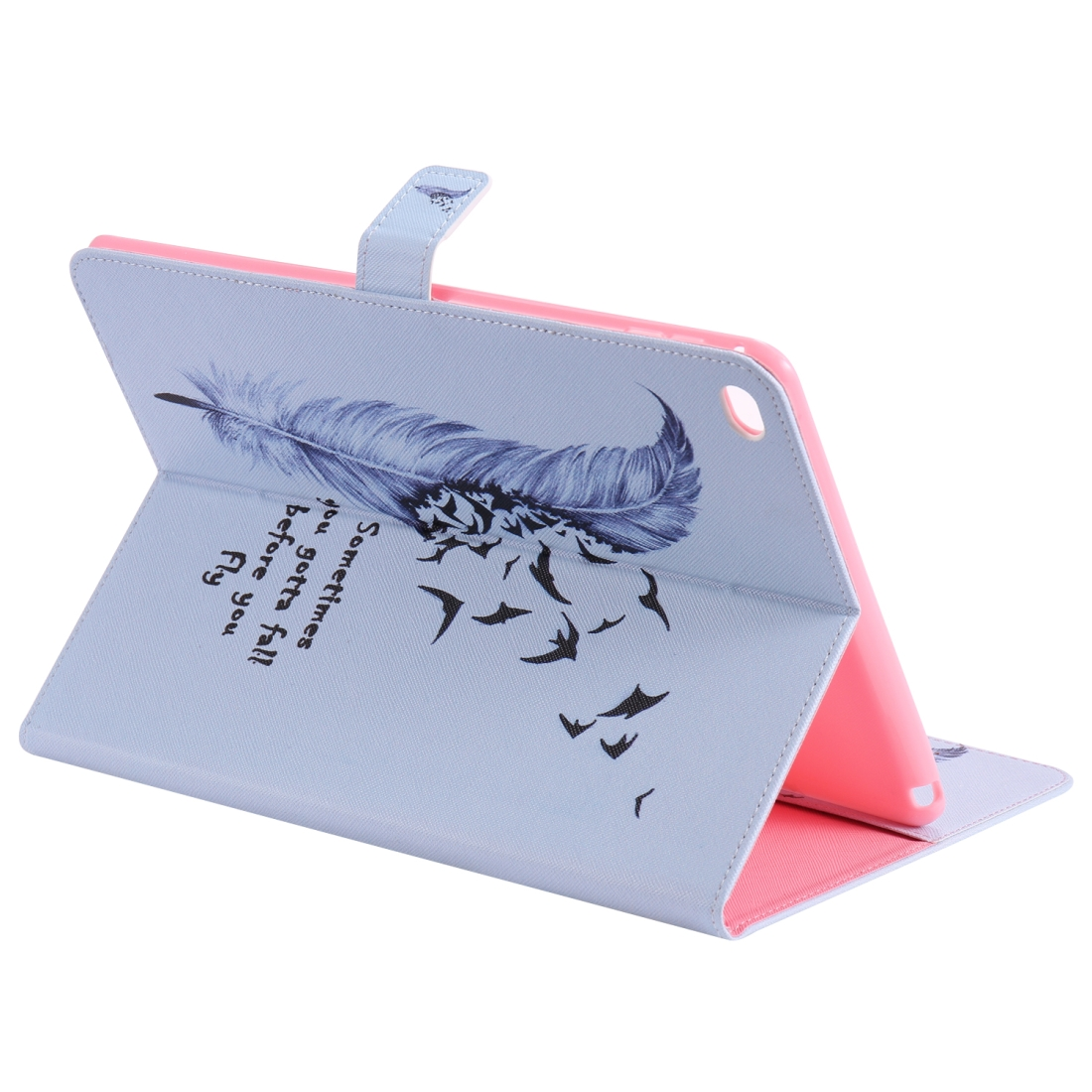 iPad 5th Generation Case Fits iPad 5 & 6, Leather With A Slim Profile & Auto Sleep (Feather)