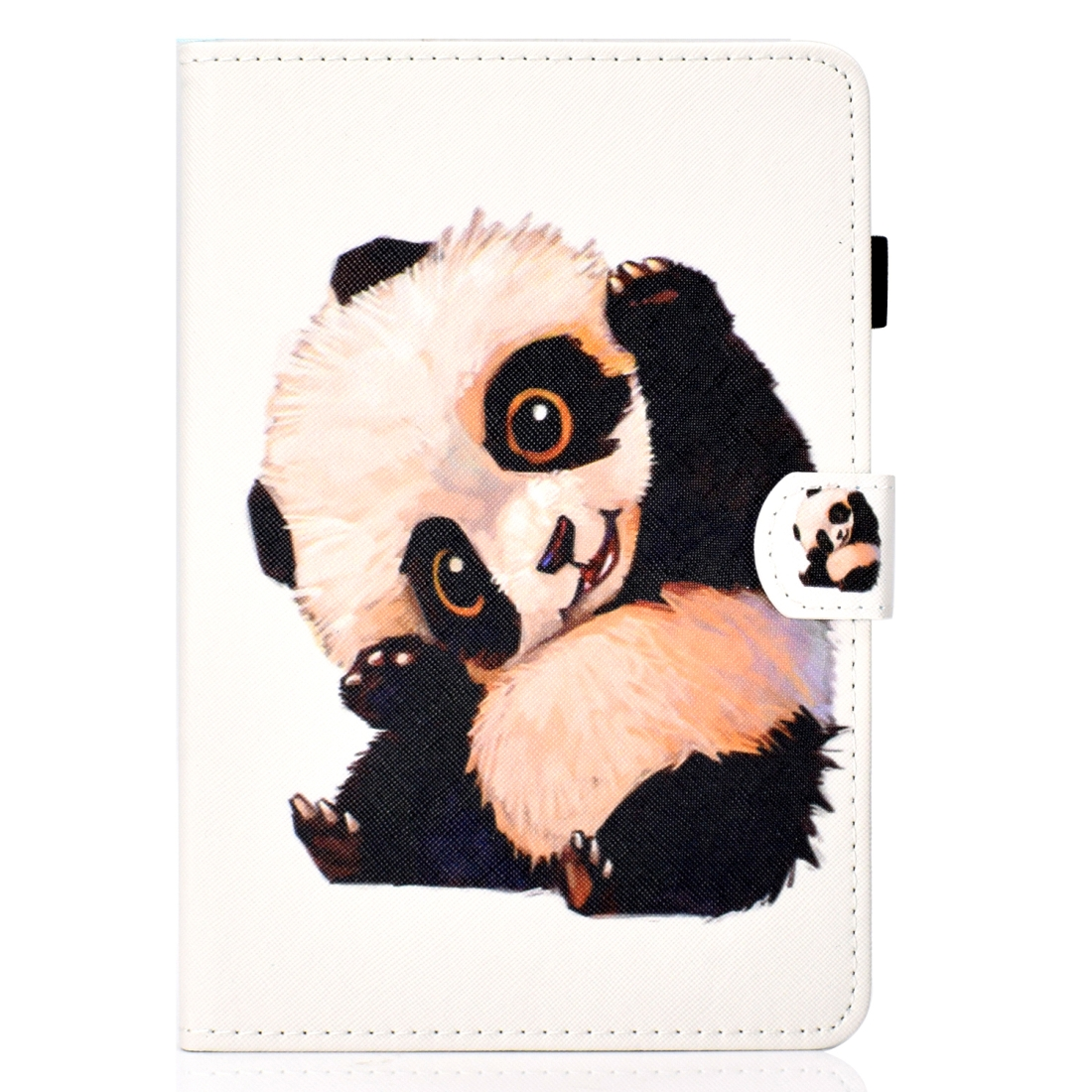 iPad 7th Generation Case (10.2 Inch) Leather With Sleeves, Pen Holder & Auto Sleep (Beckoning Panda)