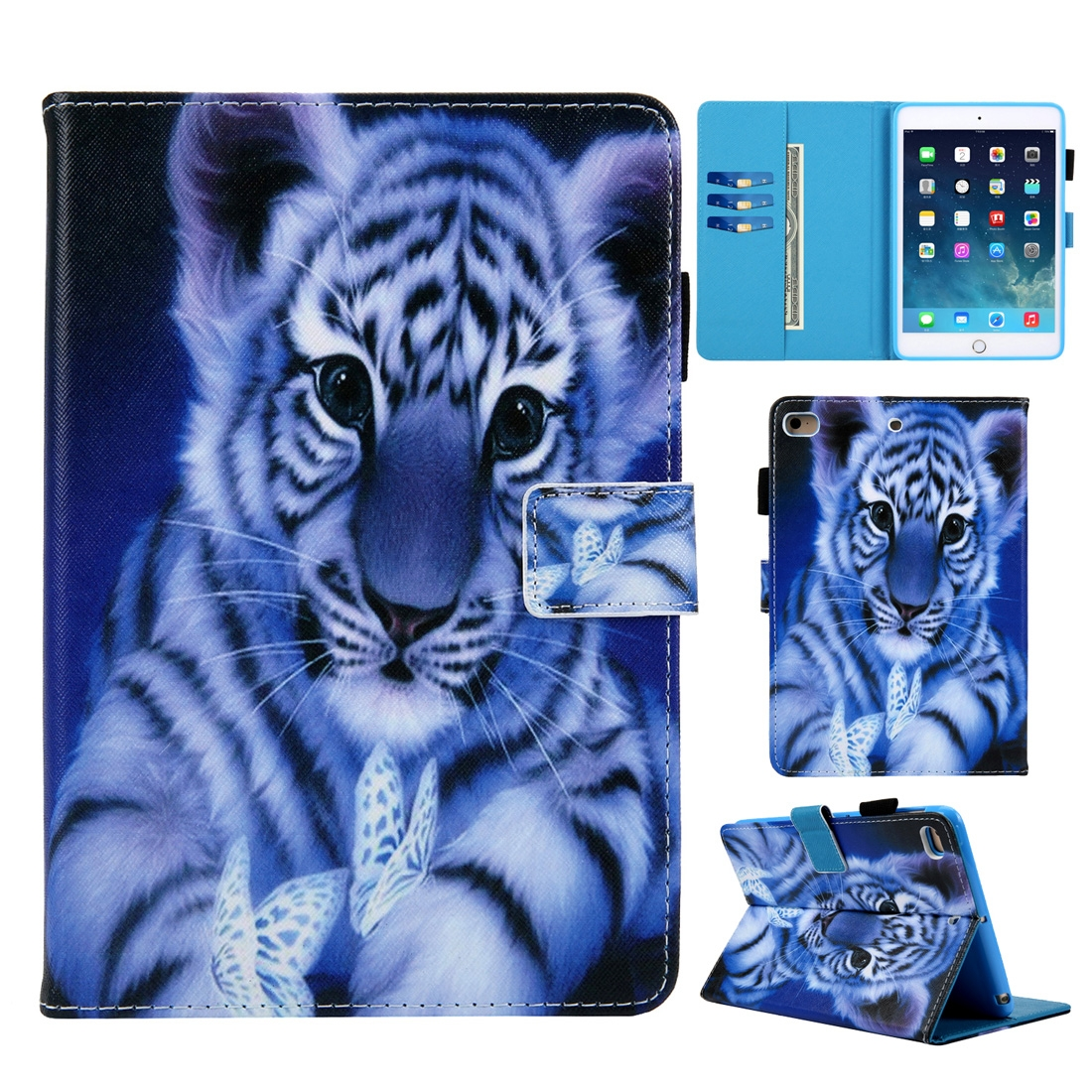 Tiger iPad 9.7 Case (2017) (2018), Pro 9.7 (2016), Air/ Air 2, With Slim Profile, Pen Holders