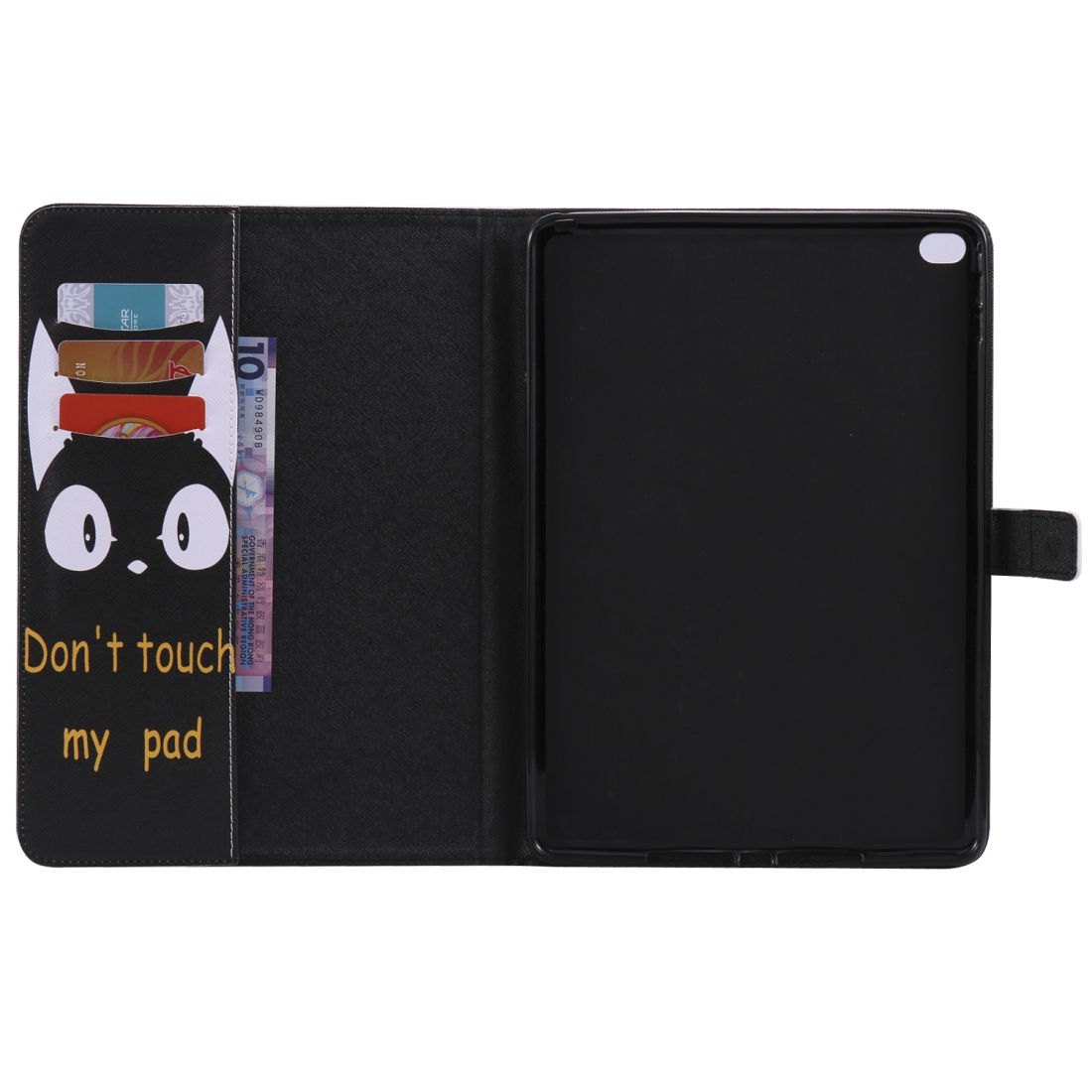 iPad 5th Generation Case Fits iPad 5 & 6, Leather With A Slim Profile & Auto Sleep (Cat Ears)