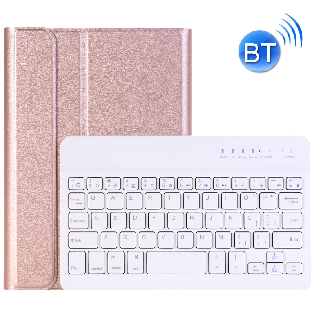 iPad Mini Case With Keyboard For iPad Mini 4, Protective Leather Case With Bluetooth (RoseGold)