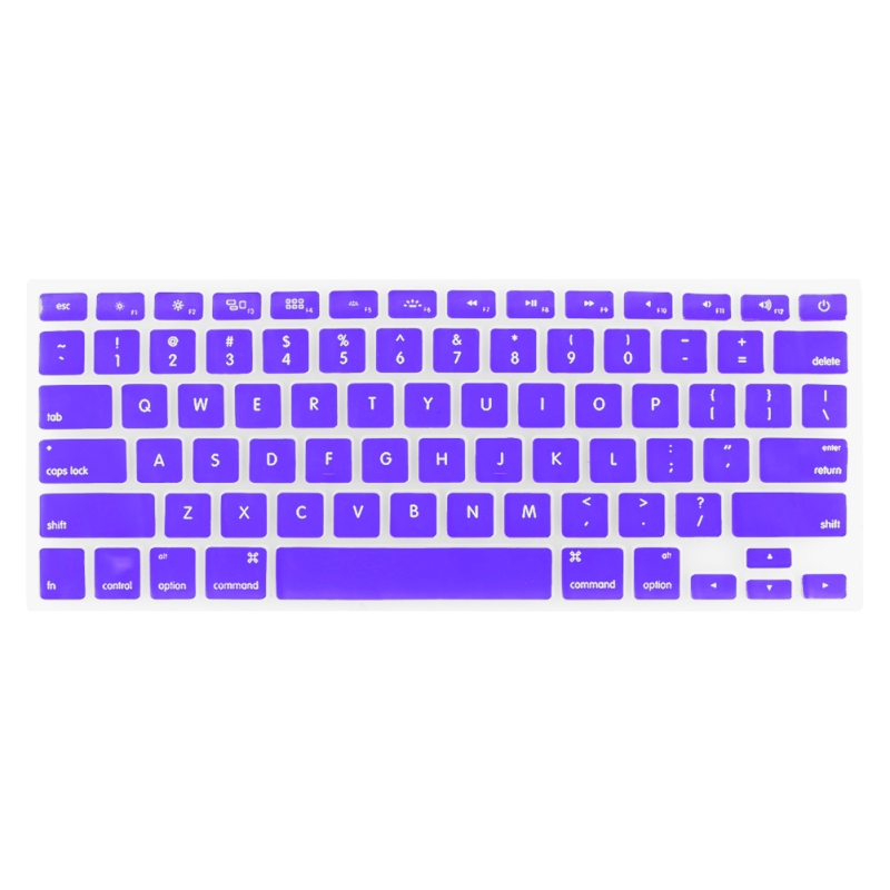 Macbook Pro Keyboard Cover For Pro 13.3 / 15.4 / 17.3 inch (US) /A1278/A1286/ Soft Silicone (Purple)