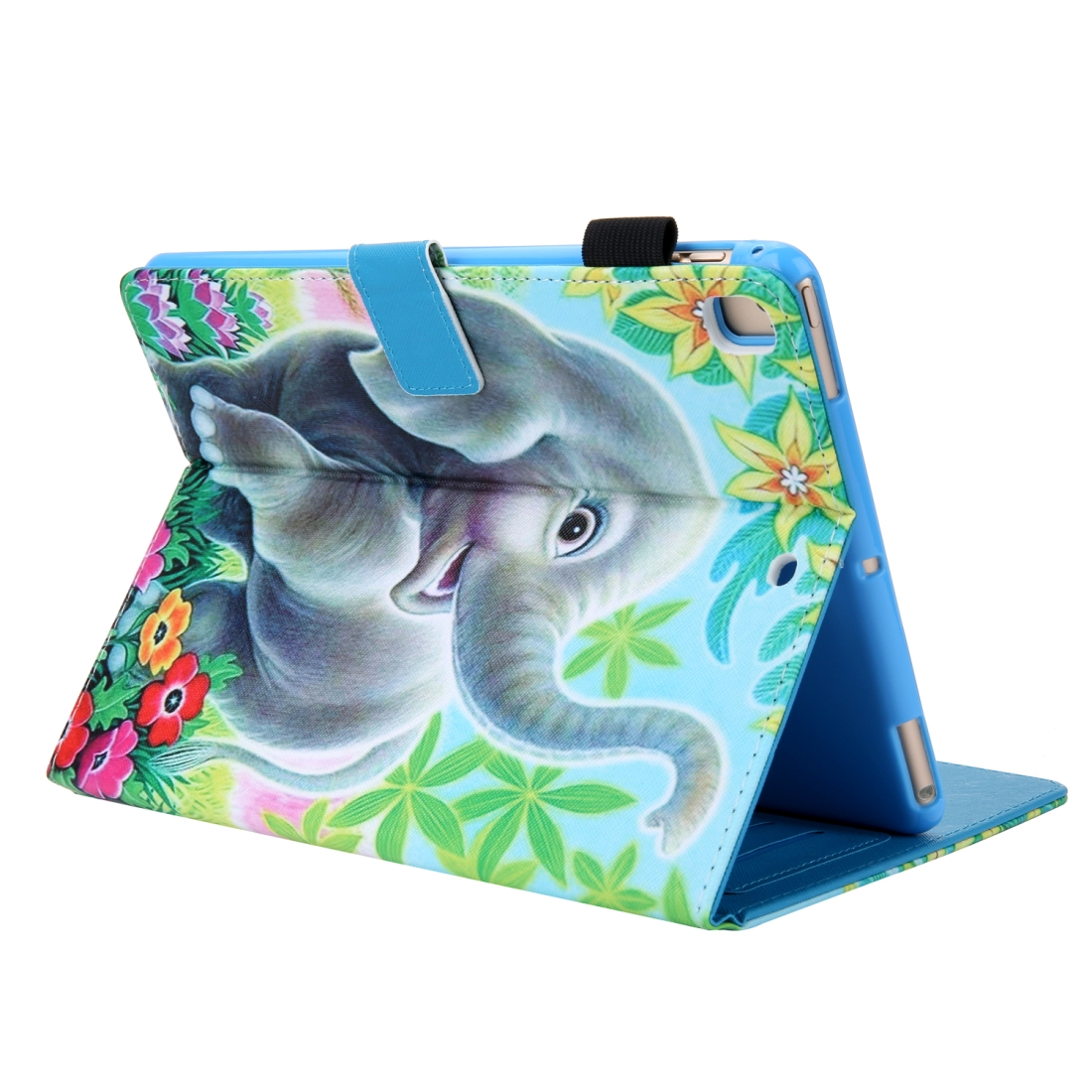 iPad 10.5 Case Colorful Design Leather Case with Sleeve (Elephant)
