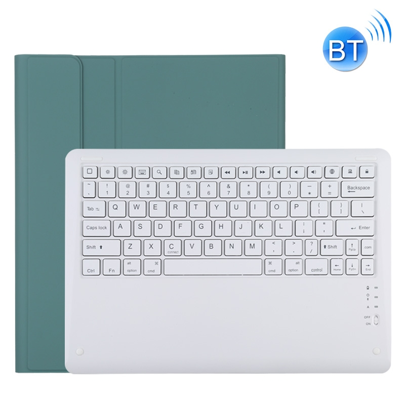 iPad Pro 12.9 Case With Keyboard (2020) Leather Case With Detachable Keyboard (Dark Green)