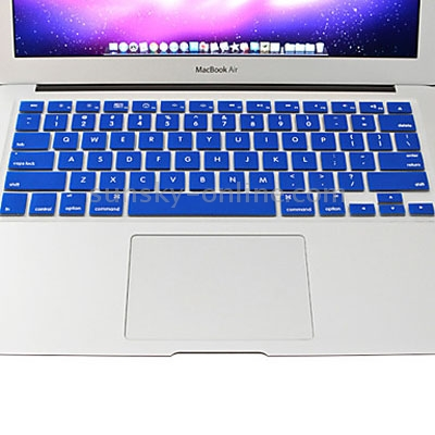 Macbook Air Keyboard Cover For Air 11.6 inch (US) / A1370 / A1465 / Colorful Soft Silicone (Blue)